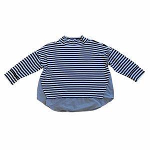 2/$25 - LOFT Top, striped looks layered - Size XL